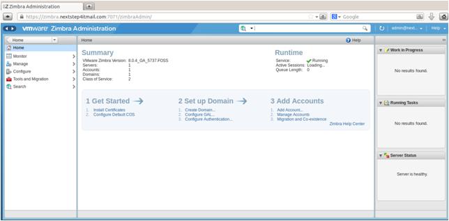 Install & configure Zimbra Open Source MailServer on CentOS 6 X